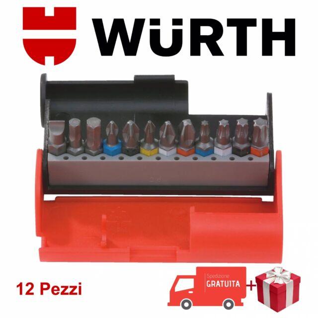 Kit Inserti Avvitatore CacciavitI BIT BOX 1/4 12Pz Professionale Würth Omaggio