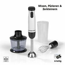 Stabmixer Handmixer Set 3in1 Zerkleinerer Edelstahl Schneebesen Aufsatz Pürier