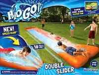 Slip N Slide Outdoor Inflatable Play Bounce Water Slide Double Slider Summer Toy
