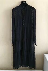 GUCCI Tiered Midi Plumetis Dress size Medium UK 10