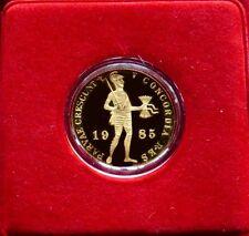 1985 GOLD NETHERLANDS UTRECH 1 DUCAT GEM MINT STATE PROOF LIKE IN CACHE & COA