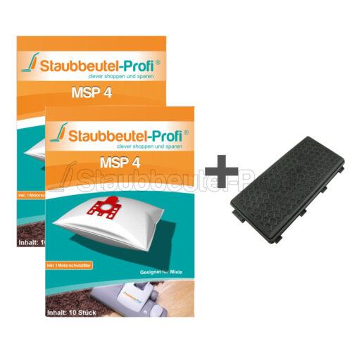 1 Hepafilter  geeignet für Miele S 5510 20 Staubsaugerbeutel