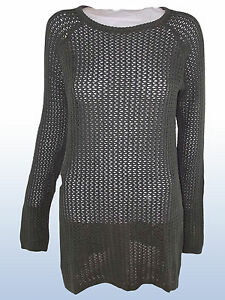 PULLOVER-DONNA-LUNGO-TRAFORATO-TRANSIT-PAR-SUCH-MADE-ITALY-TG-S-SMALL