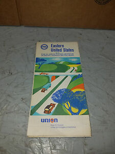 Details about Vintage UNION 76 EASTERN UNITED STATES Road Map
