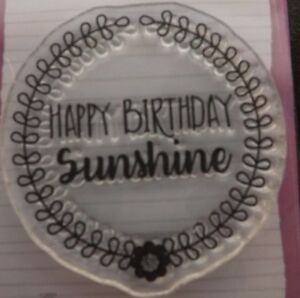 DOVECRAFT One Small Clear Stamp 034Happy BIrthday034 Sunshine - <span itemprop='availableAtOrFrom'>Bournemouth, United Kingdom</span> - Return policy options to consider: Refund (for example, returns accepted for full money back or store credit) 100% Satisfaction Guaranteed (for example, returns accepted, no questions - <span itemprop='availableAtOrFrom'>Bournemouth, United Kingdom</span>
