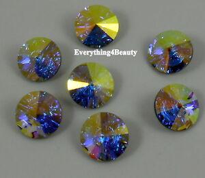 3015 14 ER *** 2 boutons cristal Swarovski réf.3015 14mm ERINITE