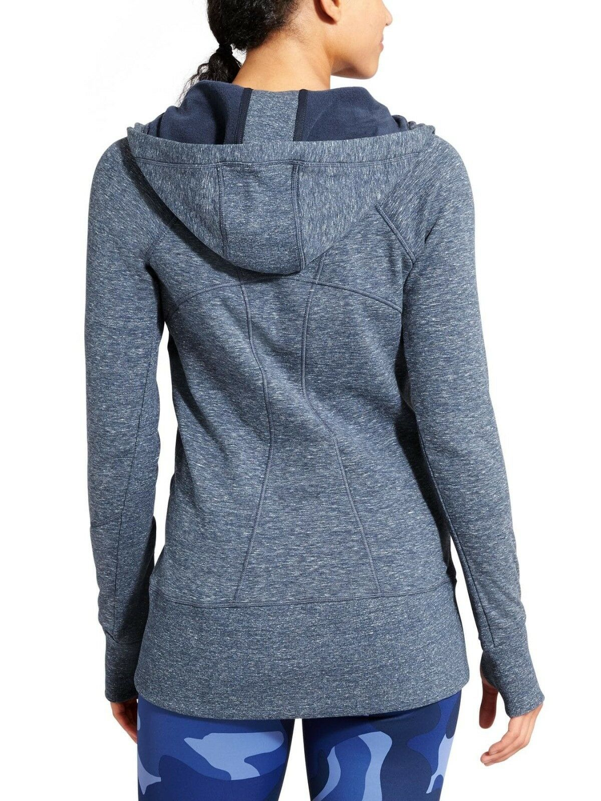 Athleta Athleta Athleta CYA Strength Hoodie 2, Navy Heather Space Dye SIZE XXS       v96 383ff0