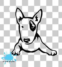 Bull Terrier Cucciolo Cane Pet Animali Novità Auto Van Paraurti Finestra Adesivo Decalcomania