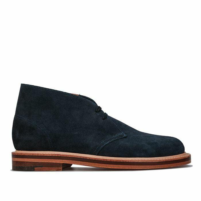 Men's Clarks Originals Desert Welt Boots in Blue