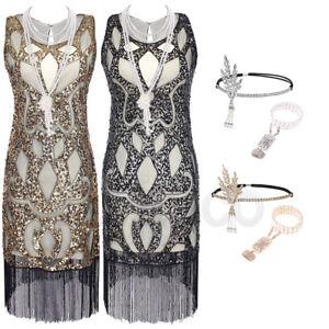 1920s-Vintage-Gowns-Flapper-Gatsby-Wedding-Evening-Dresses-Sequins-Fringed-Dress