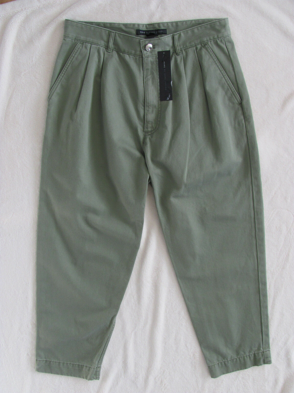 Marc by Marc Jacobs Pleated Cropped Capri Pants-Moore Green-Size 8 -NWT  278