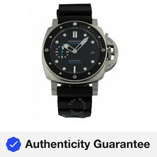 Panerai Submersible Black Dial Black Rubber Automatic 42mm Men's Watch PAM00683