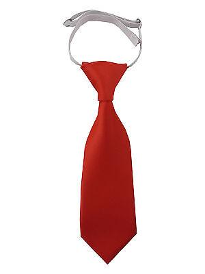LiebenswüRdig FÜrs Baby: Uni Regatt Krawatte Schlips Tie Mit Fixem Knoten Hell Rot Light Red Feine Verarbeitung