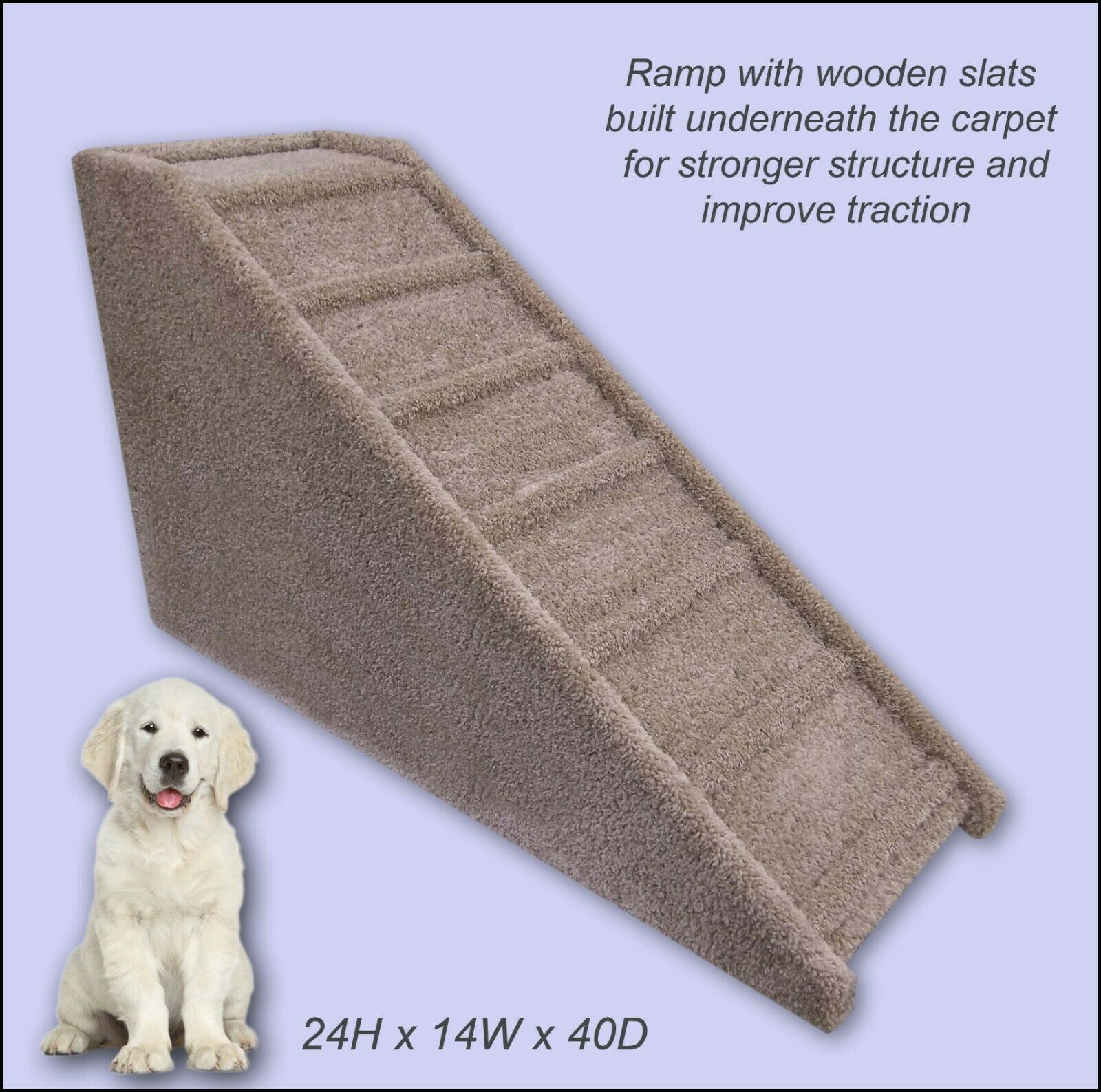 Dog Ramp, 24  tall x 14  wide x 40  Deep Dog Ramp. Sturdy ramps. Dog Supplies.