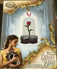 Beauty & the Beast Limited Edition Light Up Rose Ornament - New in the Box