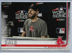 2019 Topps Series 2 Baseball Short Print Variation Chris Sale #643 Red sox