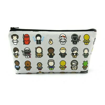 Star Wars Inspired Characters Cosmetic Bag, Zip Pouch, Makeup Bag, Pencil Case