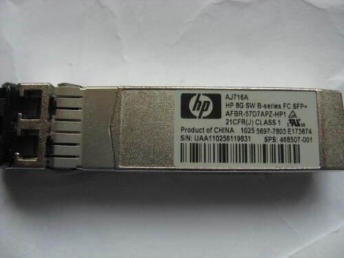 AJ716A HP 8GB B-SERIES SHORTWAVE FIBER CHANNEL SFP TRANSCEIVER