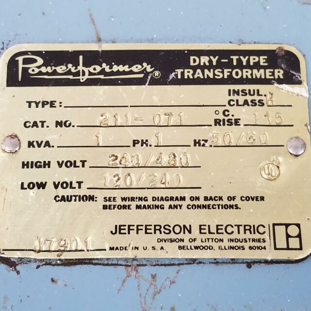 Jefferson Electric 211-071 Powerformer Transformer 1kva 1ph. on transformer vector diagrams, ceiling fans diagrams, transformer connection diagrams, transformer winding diagrams, transformer schematic diagram, transformer grounding, transformer types, transformer blueprints, transformer hook up diagrams, led circuit diagrams, transformer fuse sizing, transformer electrical, transformer formulas, three-phase transformer diagrams, transformer phase displacement diagrams, 3 phase motor control diagrams, transformer single line diagram, transformer installation, transformer design diagrams, transformer equations,