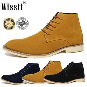 mens desert boots suede casual chelsea walking chukka