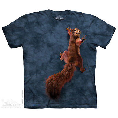 THE MOUNTAIN PEACE SQUIRREL CLIMB TREE PIMP COOL CUTE SMILE T TEE SHIRT S-5XL