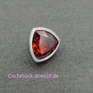 MelanO-Twisted-Aufsatz-Triangel-8-mm-Dunkel-Rot-Edelstahl