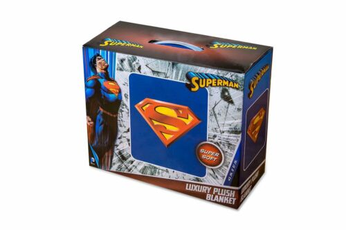 DC Superman Logo Luxury Royal Plush Baby Size Blanket Super Soft 43x51 Inches