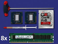 2x Intel Xeon x5680 3,33 GHz Six Core CPU no IHS +64gb RAM Apple macpro 4,1 2009