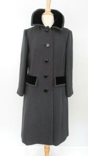1960's Mod VINTAGE Gray Wool Shagmoor PRINCESS Coa