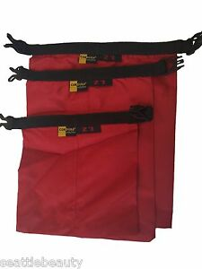 Red-3pcs-waterproof-dry-storage-sack-bag-Canoe-Boating-Floating-Camping-Outdoors