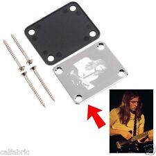 Custom Engraved CHROME PLATED Guitar Neck Plate - 4 Hole Fender Guitar Style