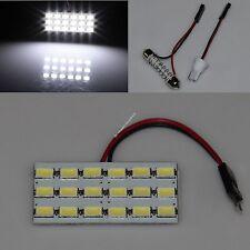 White Car 18 SMD 5630 LED panel Light Dome Interior Bulb T10 Festoon Spring 12V