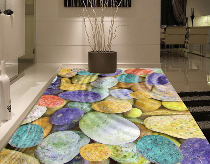 3D Farbeful Stones 70 Floor WallPaper Murals Wall Print Decal 5D AU Lemon