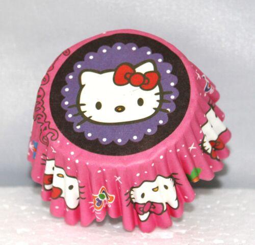HELLO KITTY SCOLLOPED BIRTHDAY PARTY TREAT CUPCAKE BAKERY BAKING CUPS 25 CT.