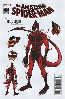 Amazing Spider-Man #797 Ed McGuinness 1:10 Red Goblin Design Variant Marvel 2018