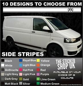 Image Is Loading VW Transporter LWB Side Stripes Stickers Decals Graphics
