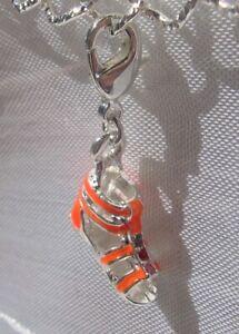 Karabiner Shart ArgenteV336 1 Metall Charme auf Spartan Orange byYf76g