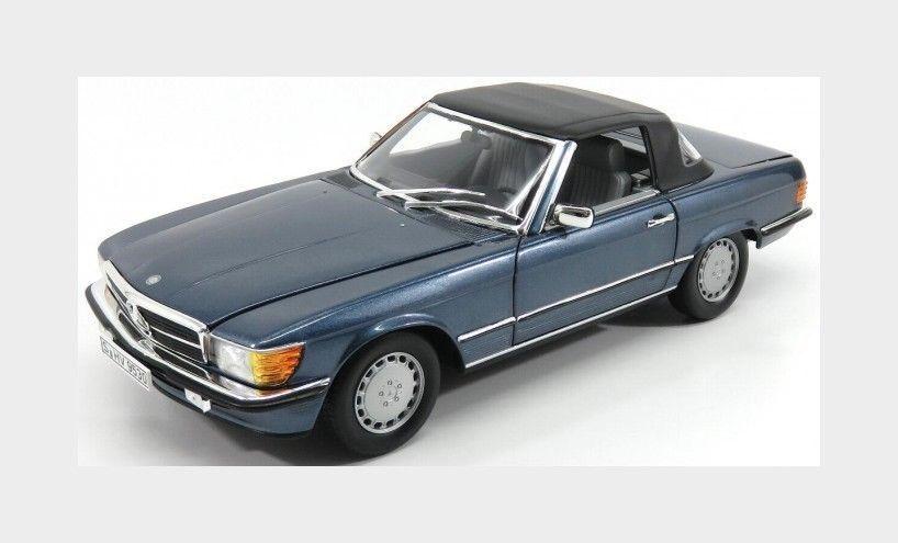 NOREV 1985 Mercedes 300SL (R107) Cabriolet bluee Rare Dealer Edition