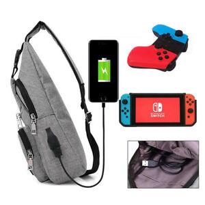 Image is loading Switch-Backpack-Gamer-Elite-Crossbody-Travel-Bag-Holds- bdaf580c63905