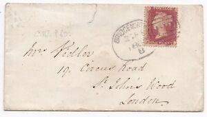 1862-BRIDGENORTH-SPOON-POSTMARK-1d-STAR-COVER-SHROPSHIRE-SALOP-TO-LONDON