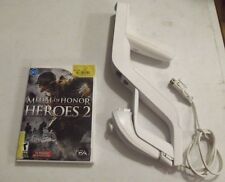 Medal Of Honor Heroes 2 (2007) Nintendo Wii /w Nunchuck & RIFLE - G. Condition
