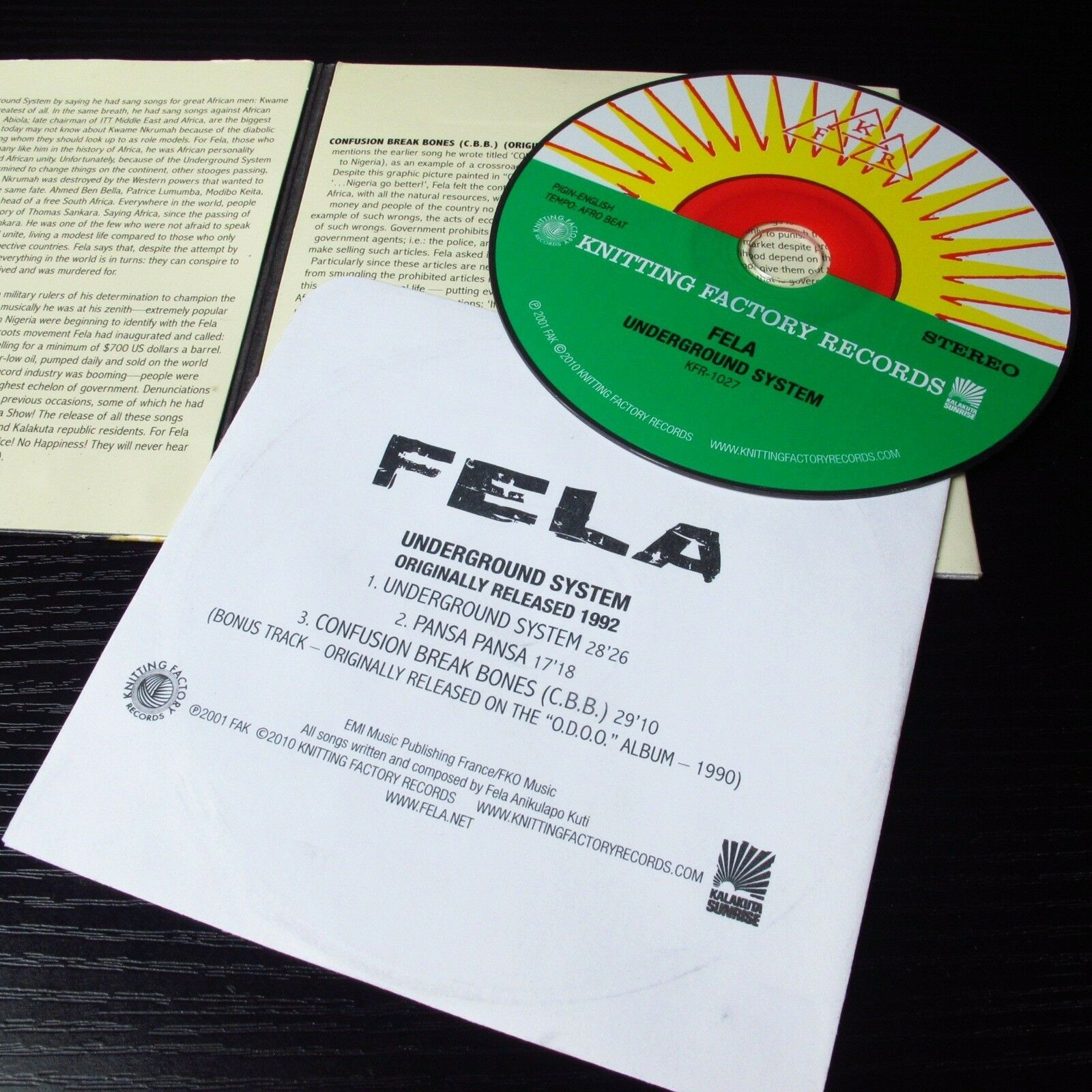 Underground System by Fela Kuti (CD, Jan-2011, Knitting Factory Works)