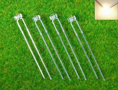 LED18WM 50pcs Water Clear Miniatronics 1.8mm Led Warm White & Free Resistors