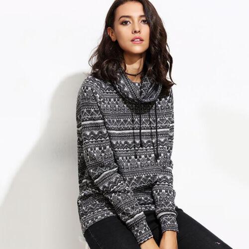 New Women Long Sleeve Turtleneck Casual Tops Knit Sweater Winter T-shirt Blouse