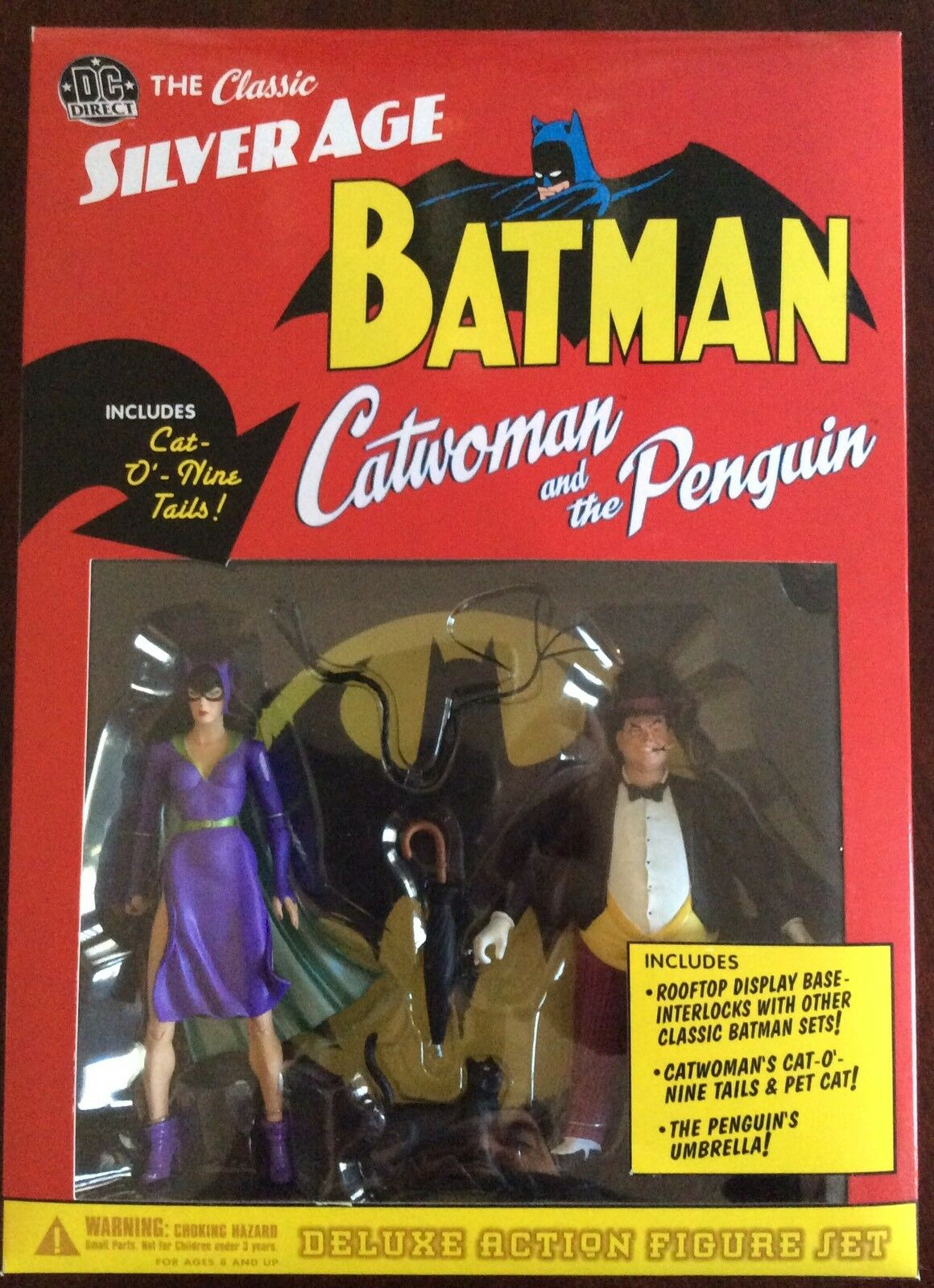 DC Direct argento Age Catdonna e The Penguin  BRe nuovo IN scatola  Deluxe Set