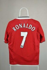 Manchester United 2004/2006 Calcio Casa maglietta jersey calcio Nike Ronaldo #7