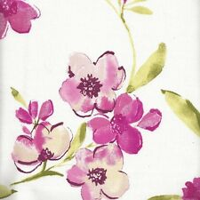 5 metres Rosemarie Pattern PINK Flower  Cotton Fabric For Curtain Upholstery