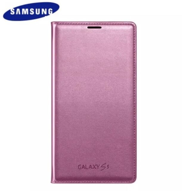 check out 37832 0d148 Genuine Official Samsung Galaxy S5 Neo Glam Pink Wallet Battery Cover Case  Flip