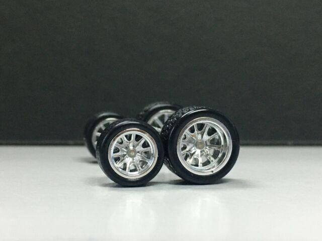 TIRES JDM Hot wheels 1//64 Set/> 4 SPOKE YELLOW 10MM+ REAL RIDER RUBBER WHEEL