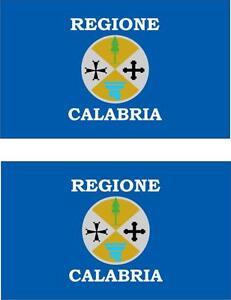 2x-Adhesivo-adesivi-pegatina-sticker-vinilo-bandera-vinyl-italia-calabria